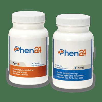 Phen24 composta da 2 tipi di compresse, 30 compresse per il giorno e 60 compresse per la notte.