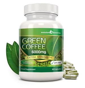 la perdita di peso veloce con un successo permanente con l'acido clorogenico in Pure Green Coffee 6000 mg